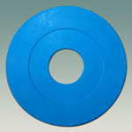 Cone Casting Gasket, Molded Blue Natural Rubber